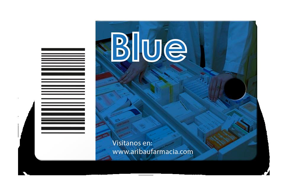 Tarjeta de fidelización Blue - Farmàcia i Ortopèdia Aribau 18