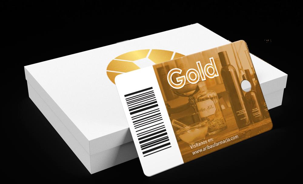 Tarjeta de fidelización Gold - Farmàcia i Ortopèdia Aribau 18